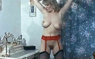 TEMPTATION - fruit British chunky tits dance tease