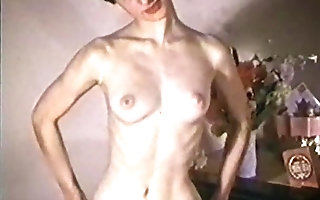 ONLY A pubescent - vintage fare cutie striptease