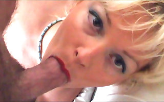 Mouth fucked second-rate blonde